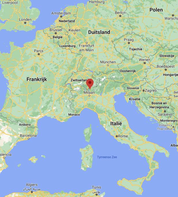 Comomeer kaart | Italië kaart