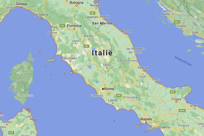 Midden Italië kaart | Italië kaart