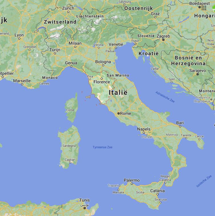 Toscane kaart | Italië kaart