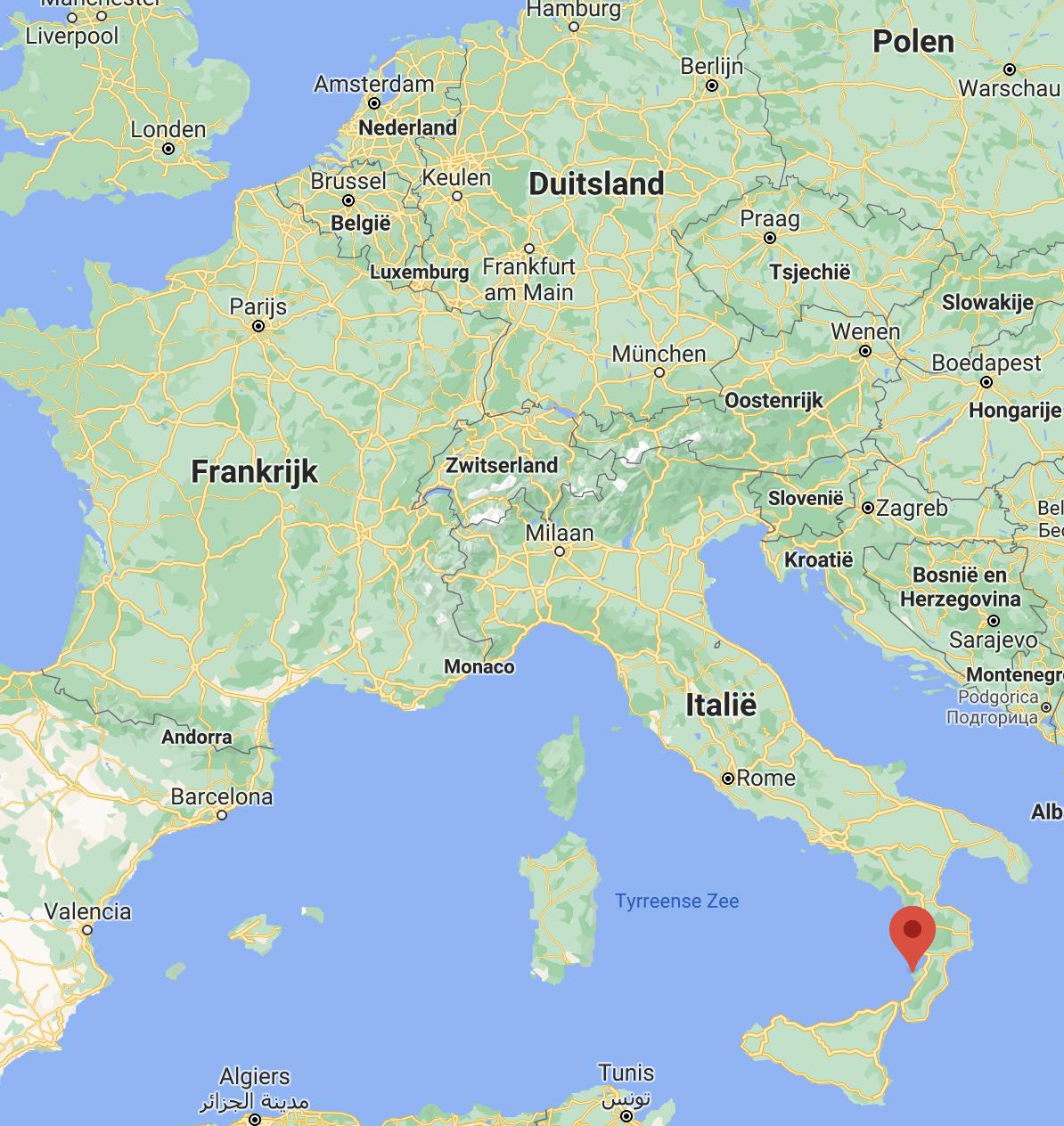 Tropea kaart | Italië kaart