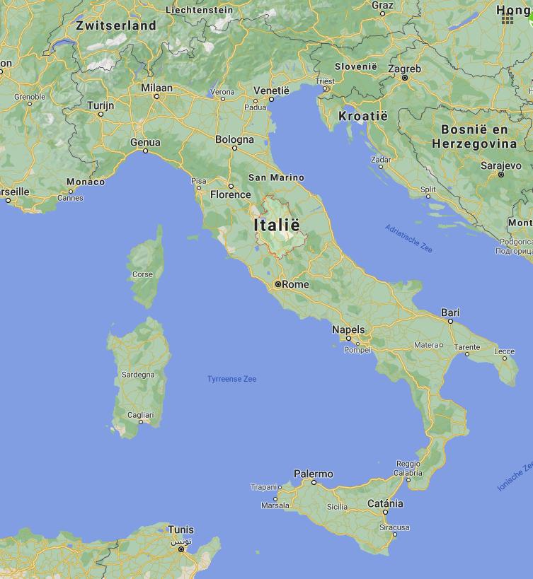 Umbrië kaart | Italië kaart